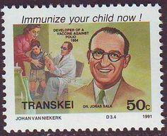 Resultado de imagem para selo de  Jonas Salk,