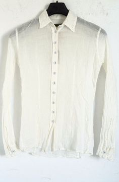 BRAND NEW PAUL HARNDEN SHOEMAKERS WOMEN'S IVORY COTTON WRINKLED SHIRT sz M…