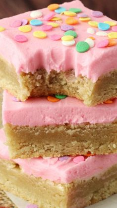 Frosted Sugar Cookie Bars ~ soft, chewy and delicious
