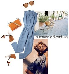"""""""Denim afternoon"""" by babyou ❤ liked on Polyvore"""