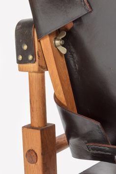 Wilhelm Kienzle Safari Chair Leather 50's - Okay Art