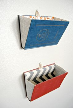 Vintage Dictionary Hanging Wall Pockets by pagesandprose