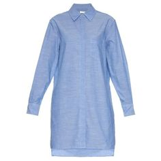 EQUIPMENT Kerry cotton chambray shirtdress (3.082.105 IDR) ❤ liked on Polyvore