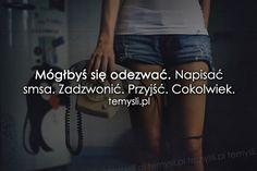 TeMysli.pl - Inspirujące myśli, cytaty, demotywatory, teksty, ekartki, sentencje Happy Photos, Sad Quotes, Everything, My Life, Jokes, Facts, Thoughts, Humor, Truths