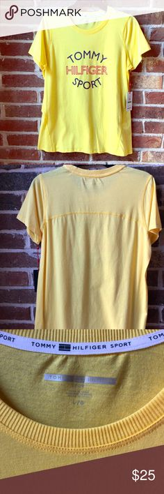 f0625dd85ea5e Shop Women s Tommy Hilfiger Yellow size L Tees - Short Sleeve at a  discounted price at Poshmark. Description  Brand new never worn with tags  Ladies size L ...