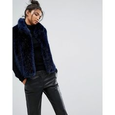 4b55a05eb3db63 PS By Paul Smith Faux Fur Gillet (€370) ❤ liked on Polyvore featuring