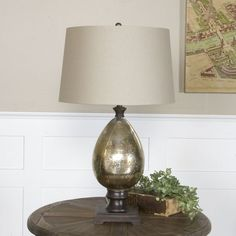 uttermost boulangerie glass and wood table lamp by uttermost