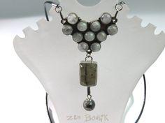 Collier Labradorite 13 pierres Serti Argent 925 par ZenBoutik