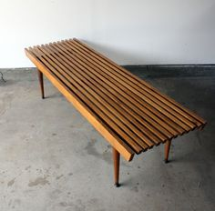 Just came across this old Slat Bench....my parents have this same table!! I love it!
