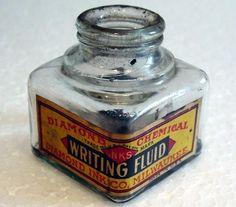 vintage writing fluid