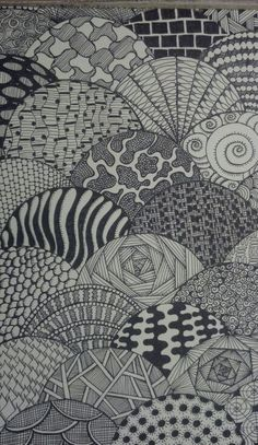 Easy Doodle Art, Doodle Art Drawing, Zentangle Drawings, Mandala Drawing, Abstract Drawings, Art Drawings, Zentangles, Zen Doodle Patterns, Doodle Art Designs