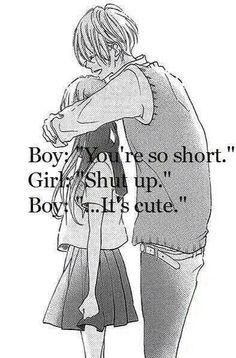 cute couple anime quotes The Random Vibez gets you the best collection of Cute Couple Quotes, Wallpapers, Images, Pictures for you to share and dedicate to your love of your life. Cute Couple Comics, Couples Comics, Cute Couple Quotes, Love Quotes, Cute Couple Things, Couples Quotes Love, Cute Couple Art, Quotes Quotes, Funny Quotes