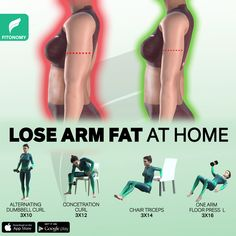 Full Body Gym Workout, Back Fat Workout, Gym Workout Videos, Gym Workout For Beginners, Fitness Workout For Women, At Home Workouts, Lean Arm Workouts, Biceps Workout, Arm Fat Exercises