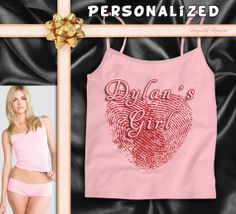 TWO of HEARTS Thumbprint ladies Boy Short and by DespicableTee