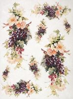 Rice Paper for Decoupage Decopatch Scrapbook Craft Sheet Vintage Gape & Flower