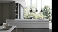Fly 1 lacquered island by Modulnova   Fitted kitchens