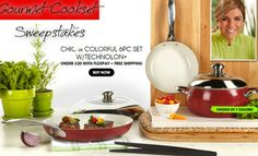Lorena Garcia Gourmet Cookset Sweepstakes WIN one (1) Chic and Colorful 6-piece Gourmet Cook Set with Technolon+ ENTER DAILY-ENDS 1/10