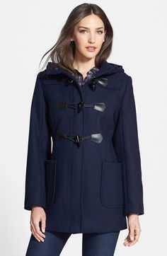 Pendleton Hooded Wool Blend Duffle Coat (Regular & Petite) available at #Nordstrom