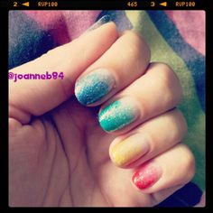 SensatioNail Glitter Rainbow Ombre