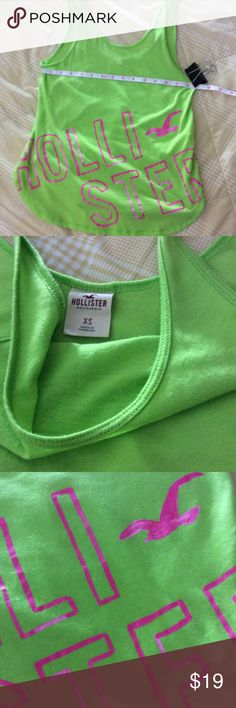 Hollister tank for junior in xl Hollister tank size xs, EUC, the tank is perfect for summer with a lower back than the front of the shirt. I find that Hollister runs slim or junior size Hollister Tops Muscle Tees