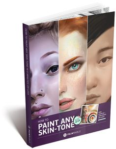Polish your digital portraits with these texture brushes - quickly paint pores, freckles, and beauty marks!