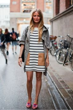 leather patches. nautical stripes. navy and white