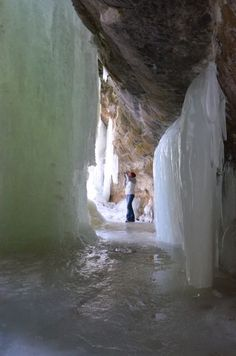 Eben Ice Caves in the Upper Michigan