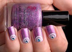 ChitChatNails » Blog Archive » Lilac Dreams under a Half-Moon