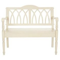 Franklin Bench in Antiqued White