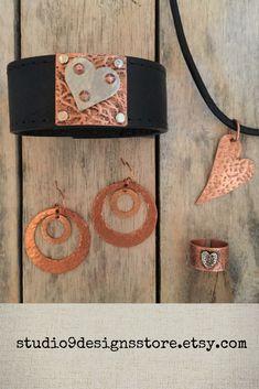 Studio 9 Designs by Rustic Jewelry, Boho Jewelry, Jewelry Accessories, Jewelry Design, Unique Jewelry, Handmade Market, Etsy Handmade, Copper Earrings, Copper Jewelry