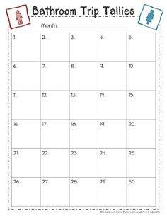 Bathroom Sign Out Sheet First Grade monthly behavior chart printables - teacherspayteachers