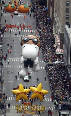Snoopy! Times Square ~ 84th annual Macy's Thanksgiving Day parade in New York