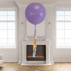 Helium filled giant pastel rainbow tassel 3-foot balloon delivered to your door