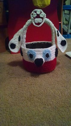 Marshall from paw patrol basket (front)