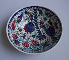 Floral Design Hand Made Ceramic Bowl Decorative Bowl by ChezGalip