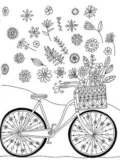 Crayola Adult Coloring Books Best Of Crayola Whimsical Escapes Coloring Book Whimsical by Spring Coloring Pages, Flower Coloring Pages, Colouring Pages, Coloring Pages For Kids, Coloring Sheets, Coloring Books, Mandala Coloring, Hand Embroidery Patterns, Cross Stitch Embroidery