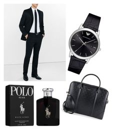 """MEN"" by pollyanna29 ❤ liked on Polyvore featuring Express, Giorgio Armani, Ralph Lauren, Givenchy, men's fashion and menswear"