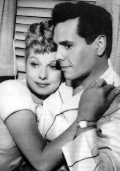 """Desi Arnez with his uber famous other half: Lucille Ball before TV stardom. Both were movie Actors and met on a movie studio lot while filming """"Too Many Girls"""" in 1940 for RKO Studios"""
