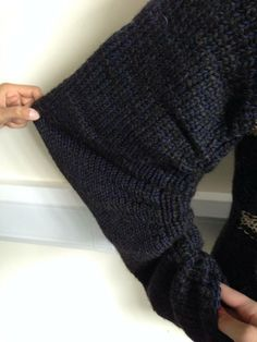 Cardigan Sleeve Detail-Sustainability Project, Year 2