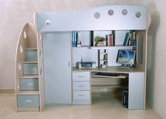 E Saver 3in1 Loft Bed Desk Closet Combo Like New