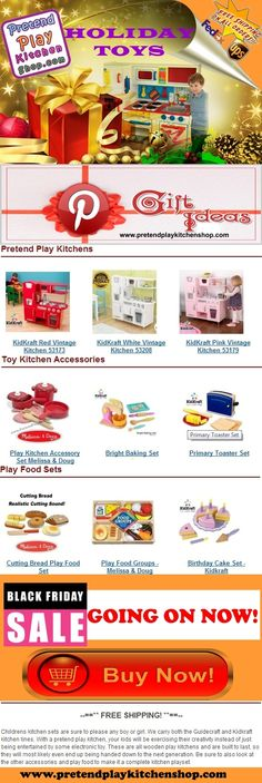 Gift Ideas For Kids! Click for more: https://www.pretendplaykitchenshop.com/