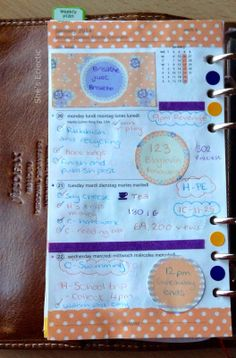 She's Eclectic: My week in my Filofax #4 - close up