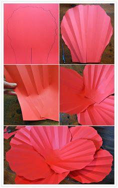 passo a passo flores gigantes de papel - Pesquisa Google