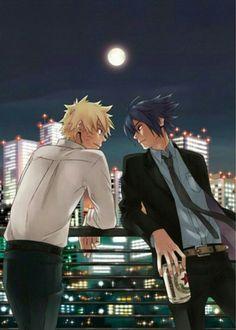 Modern naruto and sasuke #naruto #sasuke