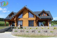 www.zruby.sk Log Homes, Cabin, House Styles, Houses, Home Decor, Timber Homes, Homes, Homemade Home Decor, Log Houses