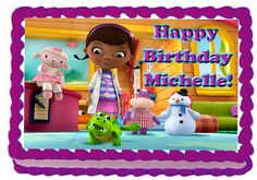 Doc McStuffins Edible image cake and cupcake toppers