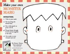 Make your own MONSTER MASK!   The Monsters' Monster by Patrick McDonnell