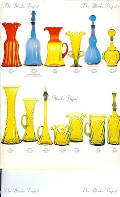 The Blenko Project is dedicated to recording the past, analyzing the present and being an advocate for the growth and preservation of BLENKO GLASS. Blenko Glass, Rainbow Glass, Art Of Glass, Antique Glassware, Amber Glass, Preserves, Vintage Antiques, The Past, Pottery