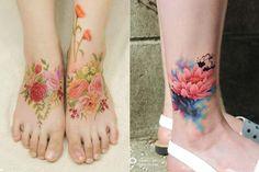 As tattoos em aquarela e sem contornos de Silo