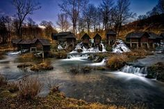 The Pliva lakes are located 5 km away from Jajce,and are home to yet another national monument – an exceptional ensemble of watermills. Wooden, without windows or chimneys, they are all the same size and stand on thin wooden legs. #lakes #pliva #watermills #feelbosnia #destinations #visitus For any inquiry contact us at info@feelbosnia.com